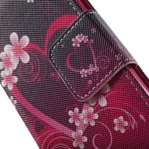 Pictu peněženkové pouzdro na Sony Xperia Z3 Compact - srdce - 7