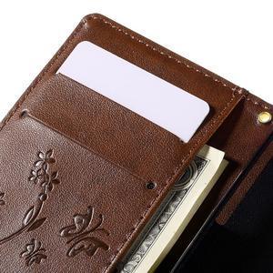Butterfly PU kožené pouzdro na mobil Sony Xperia Z3 Compact - hnědé - 7