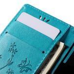 Butterfly PU kožené puzdro pre mobil Sony Xperia Z3 Compact - modré - 7/7