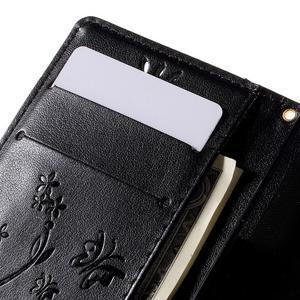 Butterfly PU kožené puzdro pre mobil Sony Xperia Z3 Compact - čierne - 7
