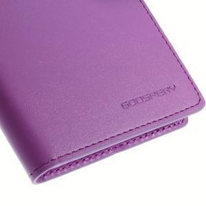 Sonata PU kožené pouzdro na mobil Sony Xperia Z3 - fialové - 7
