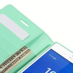 Sonata PU kožené puzdro pre mobil Sony Xperia Z3 - azurové - 7