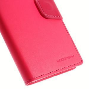 Sonata PU kožené puzdro pre mobil Sony Xperia Z3 - rose - 7