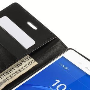 Sonata PU kožené pouzdro na mobil Sony Xperia Z3 - černé - 7