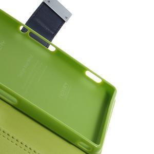 Luxury PU kožené puzdro pre mobil Sony Xperia Z3 - tmavomodré - 7