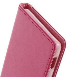 Luxury PU kožené pouzdro na mobil Sony Xperia Z3 - rose - 7