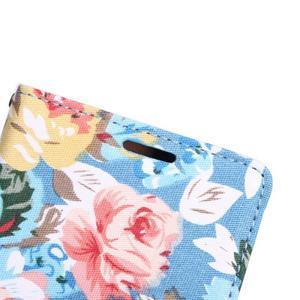 kvetinové puzdro pre mobil Sony Xperia Z3 - modré - 7