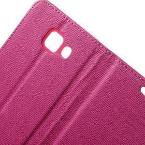 Cloth peňaženkové puzdro pre mobil Samsung Galaxy A3 (2016) - rose - 7