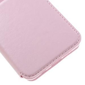 PU kožené puzdro s okienkom pre Samsung Galaxy A3 (2016) - ružové - 7