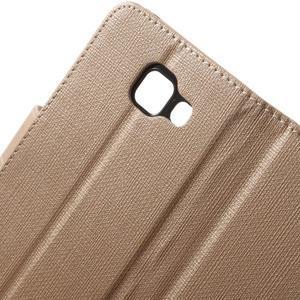 Cloth peněženkové pouzdro na mobil Samsung Galaxy A3 (2016) - champagne - 7