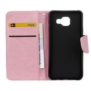 Hoor PU kožené puzdro pre mobil Samsung Galaxy A3 (2016) - ružové - 7