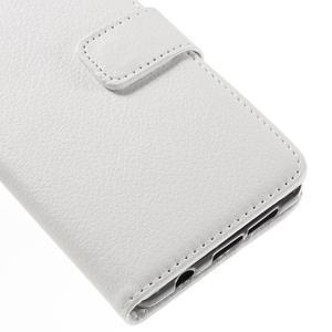 Liched koženkové pouzdro na Samsung Galaxy A3 (2016) - bílé - 7
