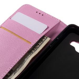 Liched koženkové puzdro pre Samsung Galaxy A3 (2016) - ružové - 7