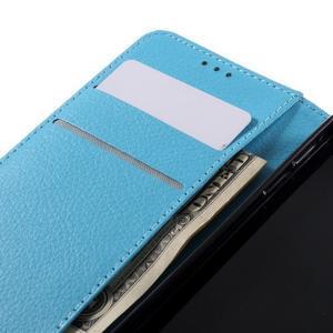 Liched koženkové puzdro pre Samsung Galaxy A3 (2016) - svetlomodré - 7