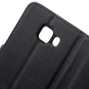 Cloth peňaženkové puzdro pre mobil Samsung Galaxy A3 (2016) - čierne - 7