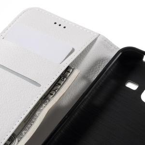 Peňaženkové puzdro pre mobil Samsung Galaxy J3  (2016) - biele - 7