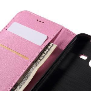 Peněženkové pouzdro na mobil Samsung Galaxy J3 (2016) - růžové - 7