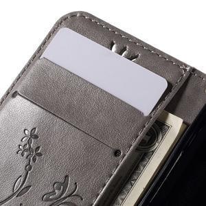 Butterfly puzdro pre mobil Samsung Galaxy Trend 2 Lite - šedé - 7