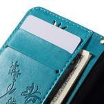 Butterfly pouzdro na mobil Samsung Galaxy Trend 2 Lite - modré - 7/7