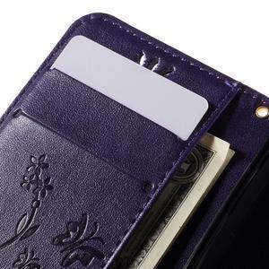 Butterfly pouzdro na mobil Samsung Galaxy Trend 2 Lite - fialové - 7
