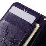 Butterfly pouzdro na mobil Samsung Galaxy Trend 2 Lite - fialové - 7/7