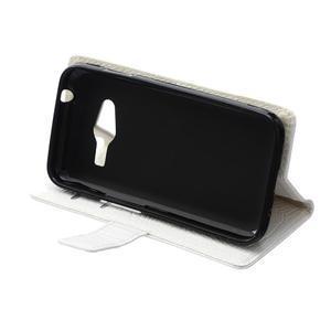 Croco peňaženkové puzdro pre Samsung Galaxy Trend 2 Lite - biele - 7