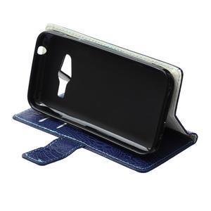 Croco peněženkové pouzdro na Samsung Galaxy Trend 2 Lite - tmavěmodré - 7