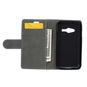 Wall peňaženkové puzdro pre Samsung Galaxy Trend 2 Lite - fialové - 7