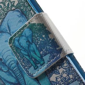 Peněženkové pouzdro na Samsung Galaxy Trend 2 Lite - modrý slon - 7