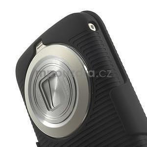 Odolný pogumovaný kryt so stojanom pre Samsung Galaxy K Zoom - čierny - 7