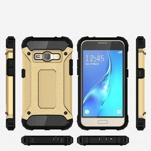 Armory odolný obal pre mobil Samsung Galaxy J1 (2016) - zlatý - 7