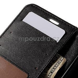 Croco peňaženkové puzdro s krokodílím motívom na Microsoft Lumia 640 - čierne - 7