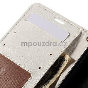 Croco peňaženkové puzdro s krokodílím motívom na Microsoft Lumia 640 - biele - 7