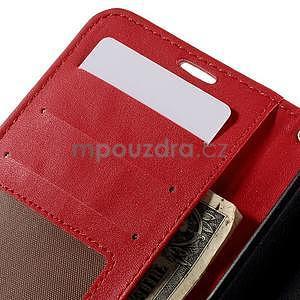 Croco peňaženkové puzdro s krokodílím motívom na Microsoft Lumia 640 - červené - 7