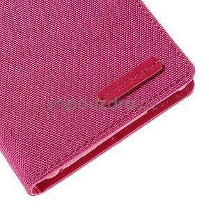 Canvas textilné/koženkové puzdro pre Sony Xperia M4 Aqua - rose - 7