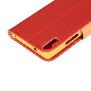 Knížkové puzdro pre mobil Lenovo Vibe Shot - červené - 7
