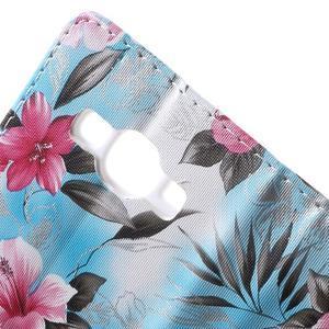 Koženkové puzdro pre mobil Samsung Galaxy J5 - modré pozadie - 7
