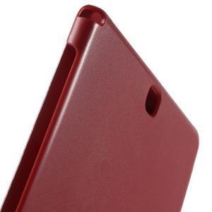 Trifold polohovatelné puzdro na Samsung Galaxy Tab A 9.7 - červené - 7