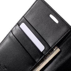 Diary PU kožené puzdro pre mobil Samsung Galaxy S6 -čierne - 7
