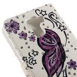 Peňaženkové puzdro s třpytivými flitry pre Huawei Honor 7 - nádherný motýl - 7/7