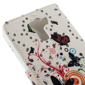 Peňaženkové puzdro s třpytivými flitry pre Huawei Honor 7 - motýlci - 7