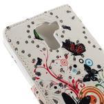 Peňaženkové puzdro s třpytivými flitry pre Huawei Honor 7 - motýlci - 7/7