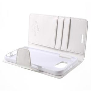 Diary PU kožené puzdro na mobil Samsung Galaxy S6 - biele - 7