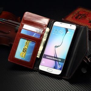 Breck peňaženkové puzdro na Samsung Galaxy S6 - hnedé/čierné - 7