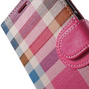 Módní štýlové puzdro na Samsung Galaxy S6 - rose - 7