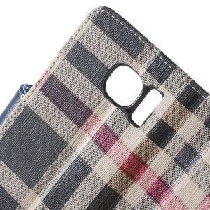 Módní štýlové puzdro na Samsung Galaxy S6 - tmavo modré - 7