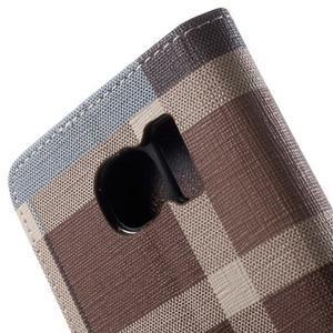 Módní štýlové puzdro na Samsung Galaxy S6 - hnedé - 7