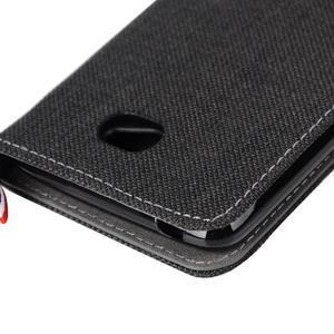 Jeans textilní/koženkové pouzdro na Sony Xperia E4 - černé - 7
