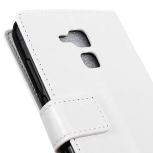 Horse PU kožené pouzdro na mobil Honor 7 Lite - bílé - 7