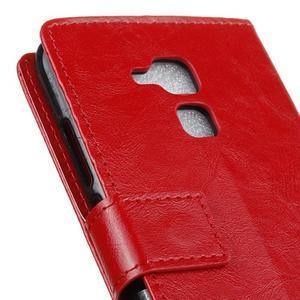 Horse PU kožené pouzdro na mobil Honor 7 Lite - červené - 7
